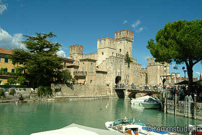 The castle of Sirmione lake Garda